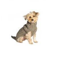 Chilly Dog Cable Dog Sweater, XX-Large, Grey by Chilly Dog