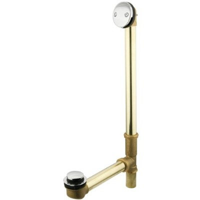 Kingston Brass Dtt2201 Tip Toe Waste And Overflow - Polished Chrome Finish