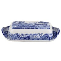 Spode Blue Italian Covered Butter Dish by Spode