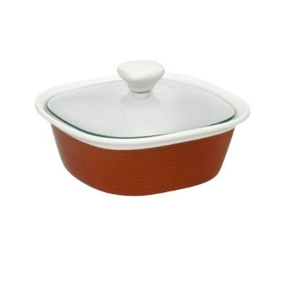CorningWare Etch 1.5 Quart with Glass Cover in Brick by CorningWare