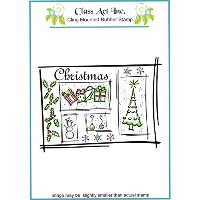 """Class Act Cling Mounted Rubber Stamp 4.25""""X5.75""""-Christmas Scene (並行輸入品)"""
