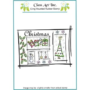 "Class Act Cling Mounted Rubber Stamp 4.25""X5.75""-Christmas Scene (並行輸入品)"