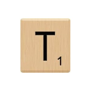 (10) GENUINE Scrabble Letter T Tiles, Scrabble for Crafts, Scrabble for Game Piece T, 10 Letter T,...