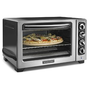 KitchenAid KCO234CCU 12 Convection Countertop Oven with Black Handle, Contour Silver by KitchenAid