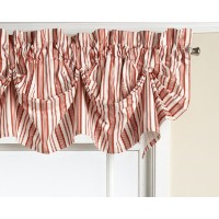 Today's Curtain Gabrielle Cotton 16-Inch Duck Tucked Valance, Rust by Today's Curtain