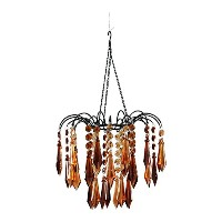 ZAPPOBZ HLLWF4 Faceted Waterfall Chandelier, Brown by ZAPPOBZ