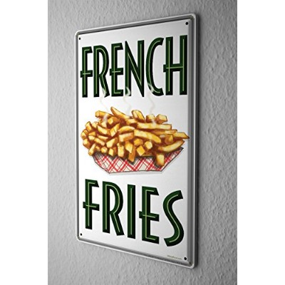 Tin Sign ブリキ看板 Retro Wall Sign French Fries Metal Plate