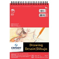 Foundation Drawing Pad, 9X12 Top Wire by Canson