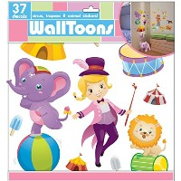 Edge Home Products Girls Walltoons Wall Sticker, Circus by Edge home