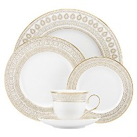 Lenox Marchesa Gilded Pearl 5 Piece Place Setting, White [並行輸入品]
