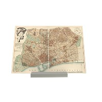 Picture Frame Wanderlust City Barcelona 1891 Composite Plate