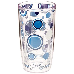 High Quality Tumbler with Wrap, 16-Ounce, Fiesta Lapis Dots