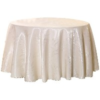 Zhhlinyuan 良質 Luxury Table Cover Cloth Skirt Washable Round Tablecloth ホーム Decoration