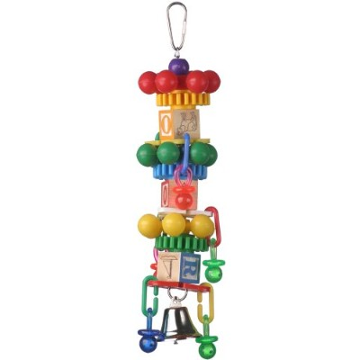 Super Bird Creations 14 by 3-Inch Spin Tower Bird Toy, Large by Super Bird Creations