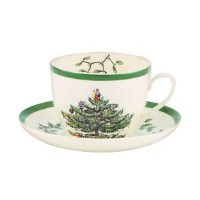 Spode Christmas Tree Teacup and Saucer by Spode
