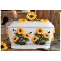 Sunflower 3D bread box, Toast jar by ACK