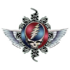 "Mike DuBois - Grateful Dead Steal Your Face ステッカー Sticker Decal - 5.5"" x 4.5"" - Weather Resistant,..."