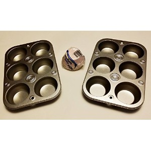2 Sets of 6 Cup Muffin Pans Plus 90カップケーキカップ