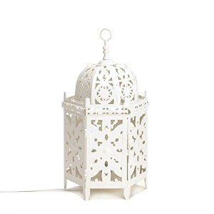 White Moroccan Table Lamp (EA)