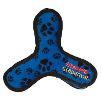 Boss Pet Chomper Gladiator Tuff Tri-Flyer Toy for Pets, Assorted Colors by Boss Pet