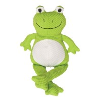 Patchwork Pet TuffPuff Froggle Squeaker Plush Dog Toy, 20-Inch by Patchwork Pet