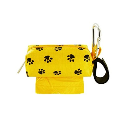 Doggie Walk Bags DB1-YLLSQP Square Duffel Paw Print Bag, Yellow by Doggie Walk Bags