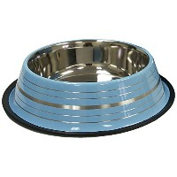 IMS Blue Stainless Steel Dog Pet Bowl Non Toxic Skid Material Easy to Clean 64z