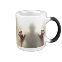 MHNS morphing mugs the walking dead Coffee Tea Milk Hot Cold Heat Sensitive Color changing Black...