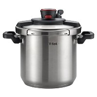 T-fal P45009 Clipso Stainless Steel Pressure Cooker Cookware, 8-Quart, Silver [並行輸入品]