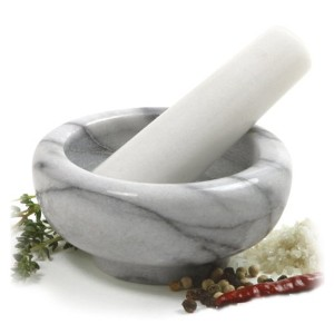 Norpro 693 White Marble Mortar and Pestle by Norpro