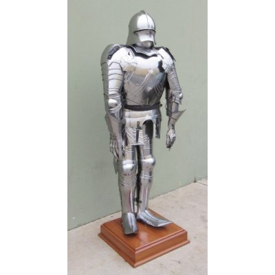 Full-Size Gothic Suit of Armor W/ Stand - 68 Tall - Late Medieval NAUTICALMART by NAUTICALMART