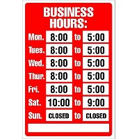 USA sign サインボード 営業時間 BUSINESS HOURS Red/White