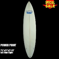 "Power Point パワーポイント サーフボード ファン 7'6"" フィン付 Funboard (A60296)サーフィン サーフボード Surfboard 未使用アウトレット特価【代引不可】"