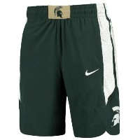 Michigan State Spartans Nike Authentic On-Court Performance Basketball Shorts メンズ Green NCAA ナイキ...