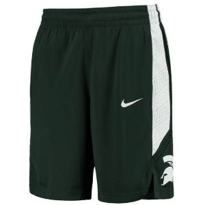 Michigan State Spartans Nike On Court Basketball Shorts メンズ Green NCAA ナイキ バスパン カレッジ