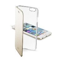 Cellularline iPhone6s ケース 手帳型 ゴールド CLEAR BOOK for iPhone6/6s(4.7) 【各種カード収納可】