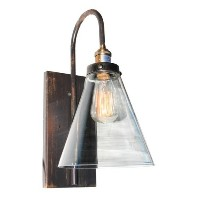 Artcraft Lighting Greenwich 1 Light Wall Bracket, Cone Shape Glass, Oil Rubbed Bronze by Artcraft...