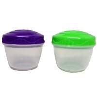 Sistema 150ml Yogurt and Snack Containers, Green and Purple, 1-Pack (2 Containers in Total) by...