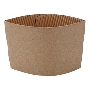 Sipoes Protective Corrugated Cup Sleeve, Brown by Sipoes