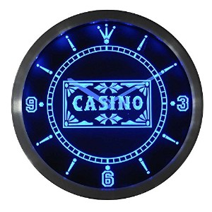 LEDネオンクロック 壁掛け時計 nc0358-b Casino Poker Game Room Bar Beer Neon Sign LED Wall Clock