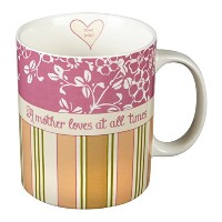 Sweet Little Darling A Mother Loves at All Times磁器コーヒーマグ、15oz 15オンス ピンク