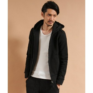 【VADEL(バデル)】raised back french terry jersey solid high neck hood parka パーカ