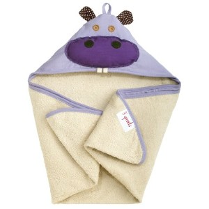 3 Sprouts Hooded Towel Hippo (並行輸入)