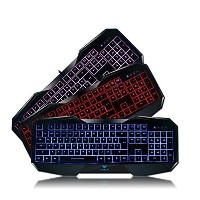 AULA SI-859 Backlit Gaming Keyboard with Adjustable Backlight Purple Red Blue USB Wired Illuminated...