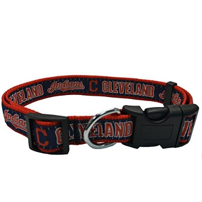 Cleveland Indians Dog Collar Medium