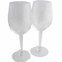 30th Wedding Anniversary Wine Glasses Pair