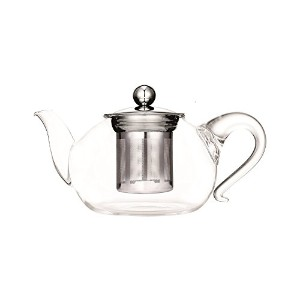 Europeware T8208 Pyrex Glass Tea Pot with Filter, 40.5 oz, Clear [並行輸入品]