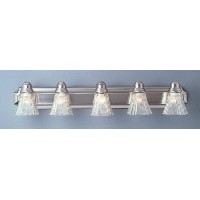 Trans Globe Lighting 2505 BN 5-Light Bath Bar, Brushed Nickel [並行輸入品]