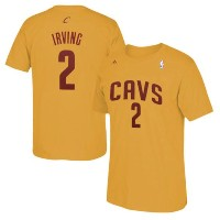 Kyrie Irving Cleveland Cavaliers adidas Net Number T-Shirt メンズ Gold NBA Tシャツ クリーブランド キャバリアーズ カイリー...