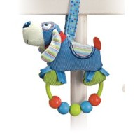 Baby Boy Rattle, Snoodle Beaded Rattle 5.5 by GUND